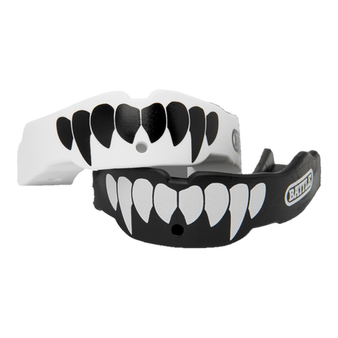 Battle Oxygen Black & White Fangs Youth Mouthguard 2-Pack