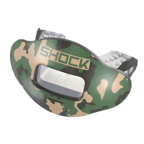 Shock Doctor Max AirFlow 2.0 Green Desert Camo Lip Guard - Vikn Sports