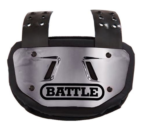 Battle Chrome Silver Football Back Plate - Youth - Vikn Sports