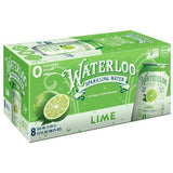 Waterloo Sparkling Water 8 Pack Case - 12oz Cans - MULTIPLE FLAVOR OPTIONS - Vikn Sports