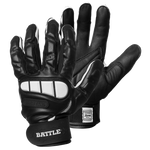 Battle Lineman Black Youth Football Gloves
