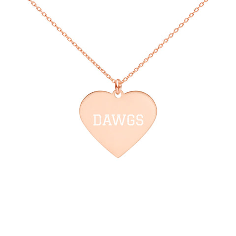 Dawgs Engraved Heart Necklace - Vikn Sports