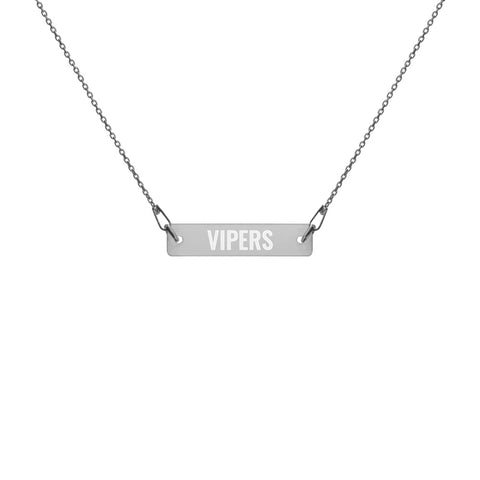 Vipers Engraved Bar Chain Necklace - Vikn Sports