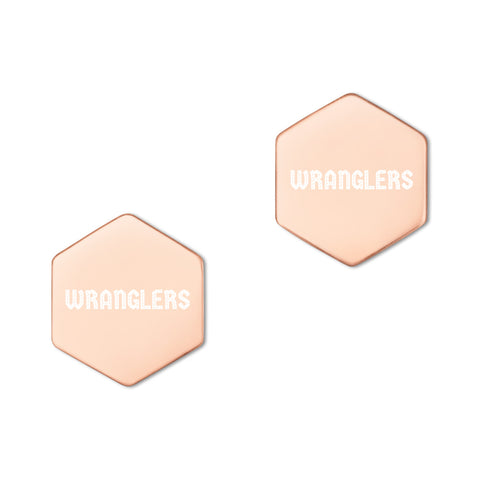 Wranglers Hexagon Stud Earrings - Vikn Sports