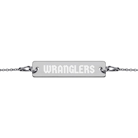 Wranglers Engraved Bar Chain Bracelet - Vikn Sports