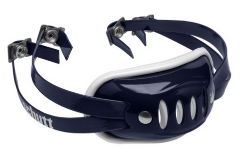 Schutt Navy Blue Hard Chin Strap - Vikn Sports