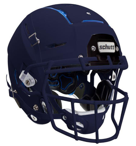 Schutt F7 Matte Navy Blue Youth Helmet - Upgraded Satin Navy Faceguard - Vikn Sports