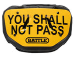 "Battle ""You Shall Not Pass"" Chrome Football Back Plate - Adult - Vikn Sports"