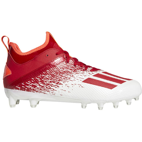 adidas Adizero Scorch Men's White & Solar Red Football Cleat