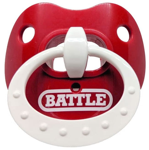 Battle Oxygen Red/White Binky Mouthguard - Vikn Sports
