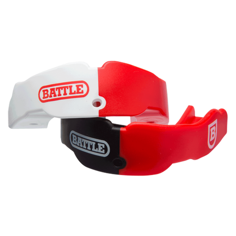 Battle Oxygen Red/White & Red/Black Adult Mouthguard 2-Pack