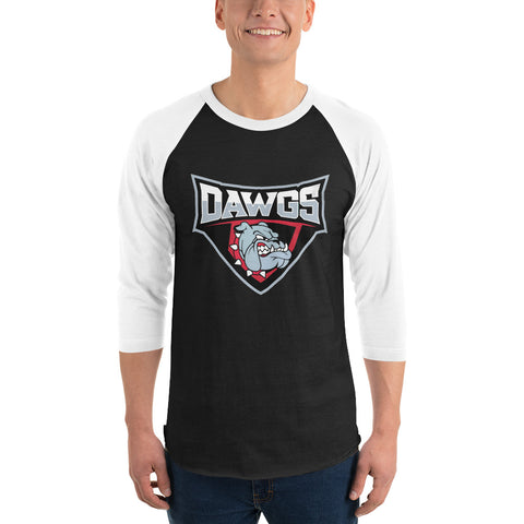 Dawgs 3/4 sleeve raglan shirt