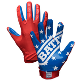 Battle American Flag Football Receiver Gloves - Vikn Sports