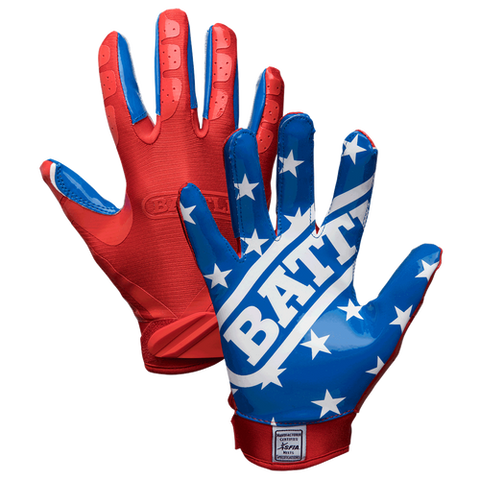 Battle American Flag Youth Football Receiver Gloves
