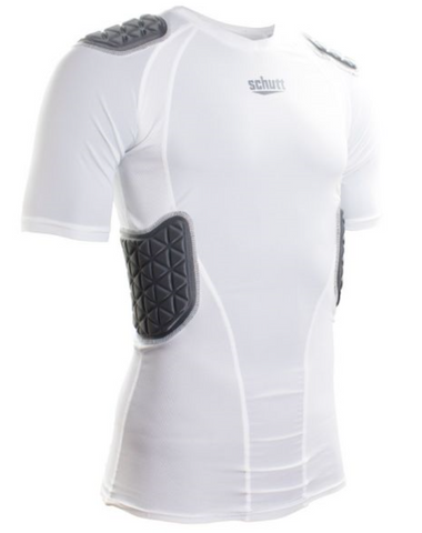 Schutt White Youth Pro Tech Compression Shirt - Vikn Sports