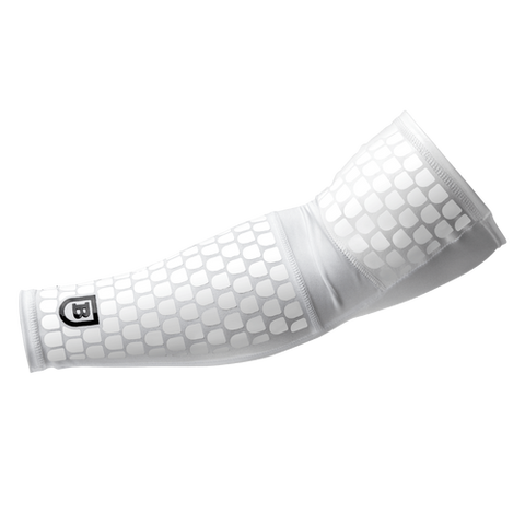 Battle White Full Arm Sleeve - Vikn Sports