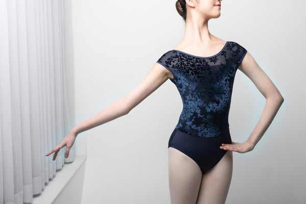 Sissone Wear Aeonian Purity Navy Dance Leotard - available from Ma Cherie Dancewear Australia