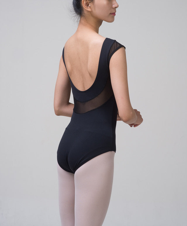 Black luxury ballet leotard - Dancewear Australia
