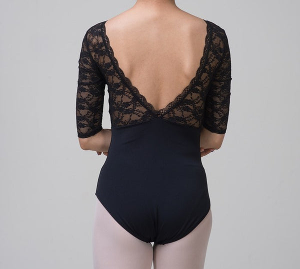 Black Lace Ballet Leotard from Ma Cherie Dancewear Australia