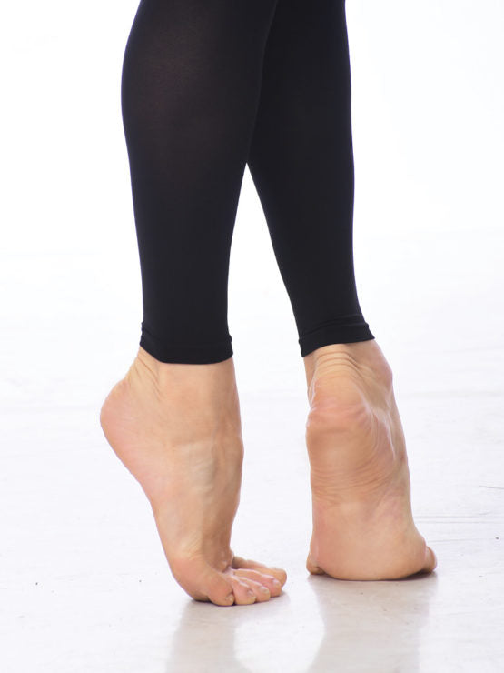 Gaynor Minden Black Footless Tights - Ma Cherie Dancewear Australia