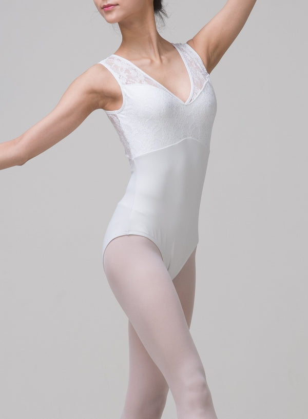 Grace Blanc White Lace Ballet Leotard from Ma Cherie Dancewear Australia