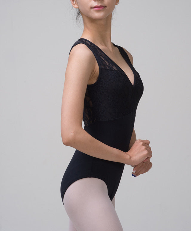 Grace Noir Black Lace Leotard - Dancewear Australia