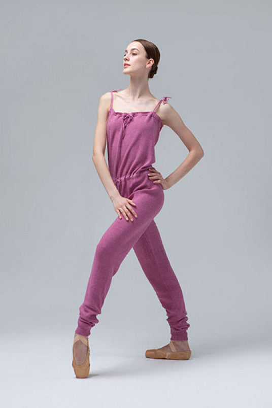 Cotton Knitted Dusty Rose Jumpsuit from Ma Cherie Dancewear Australia