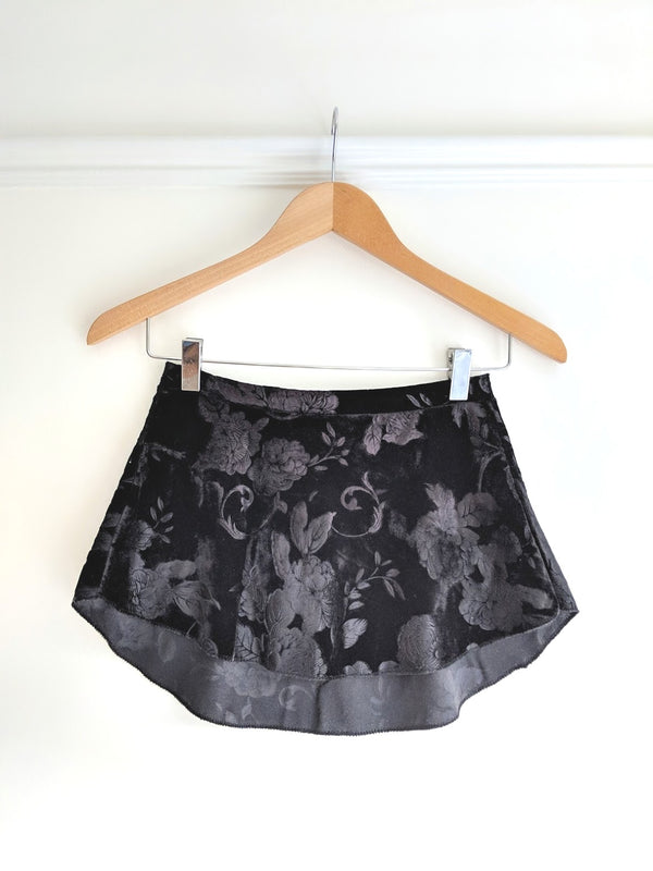 SAB Black Stretch Velvet Skirt - Ma Cherie Dancewear Australia