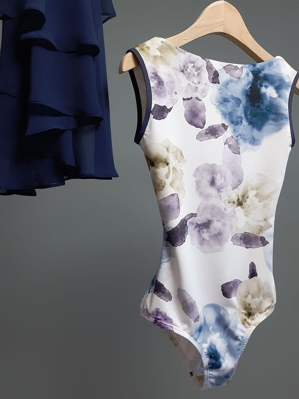Sissone Wear Watercolour Navy Blue Dance Leotard from Ma Cherie Dancewear
