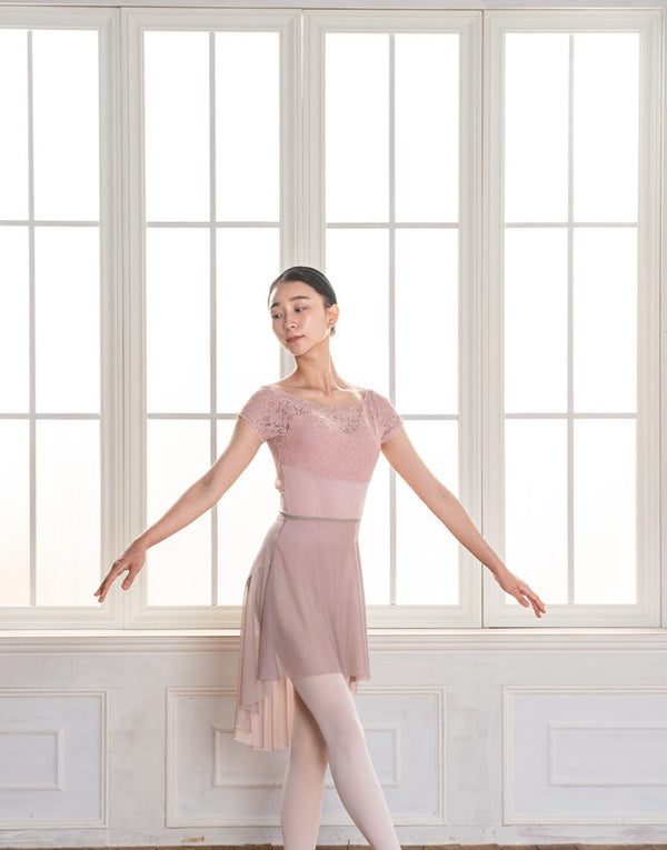 Pink Lace Ballet Leotard from Ma Cherie Dancewear Australia