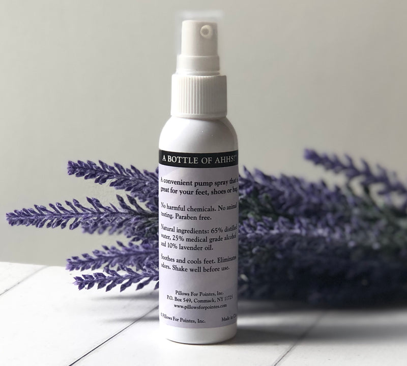A Bottle of Ahhs Lavender Foot Spray