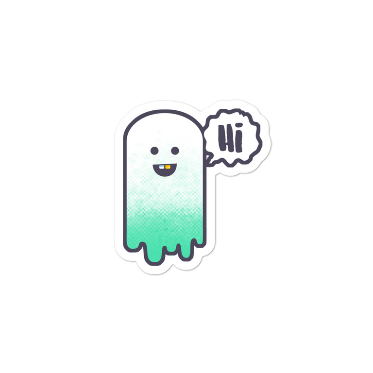 Ghostly greetings sticker