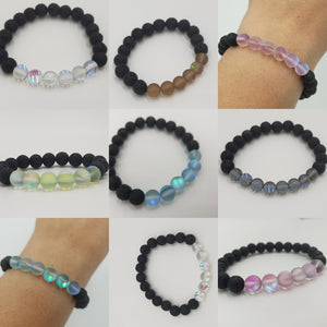 Heated Clear Quartz Aromatherapy Bracelet