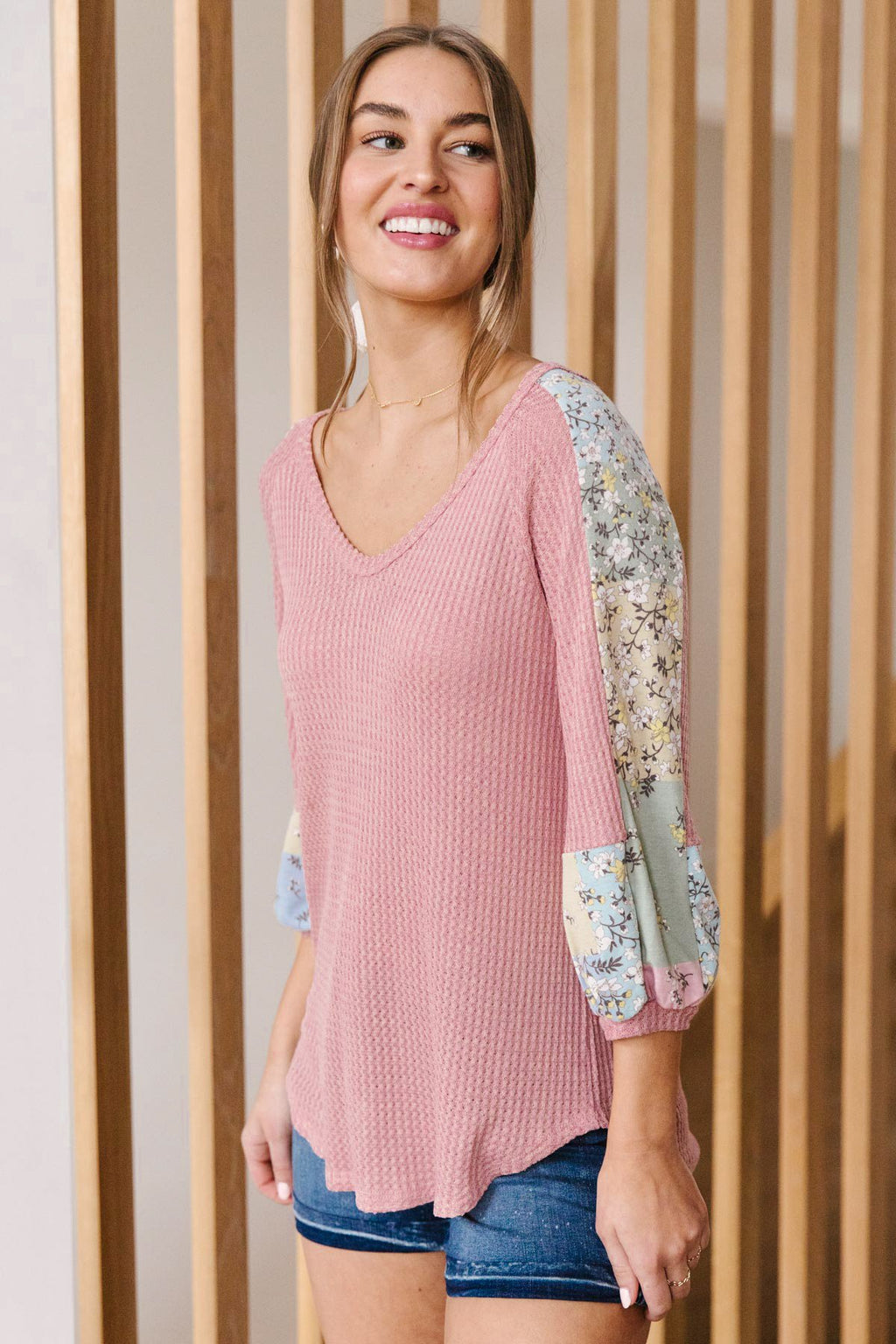 Blushing Blossom Top in Blush