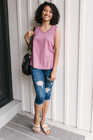 Jenna Basic Tank in Mauve