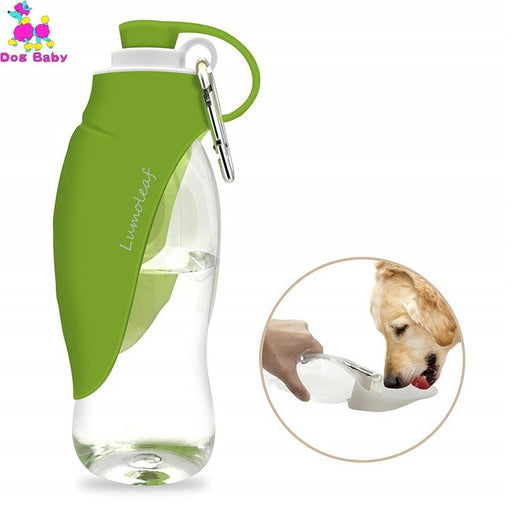 580ml Dog Water Bottle for Walking, Pet Water Dispenser Feeder Container Portable with Drinking Cup Bowl Outdoor Hiking, Travel