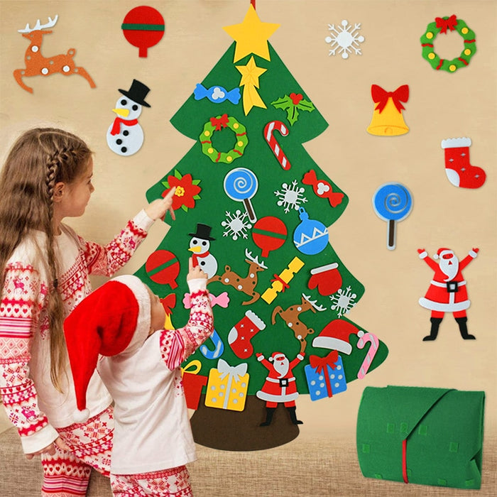 Kids DIY Felt Christmas Tree Christmas