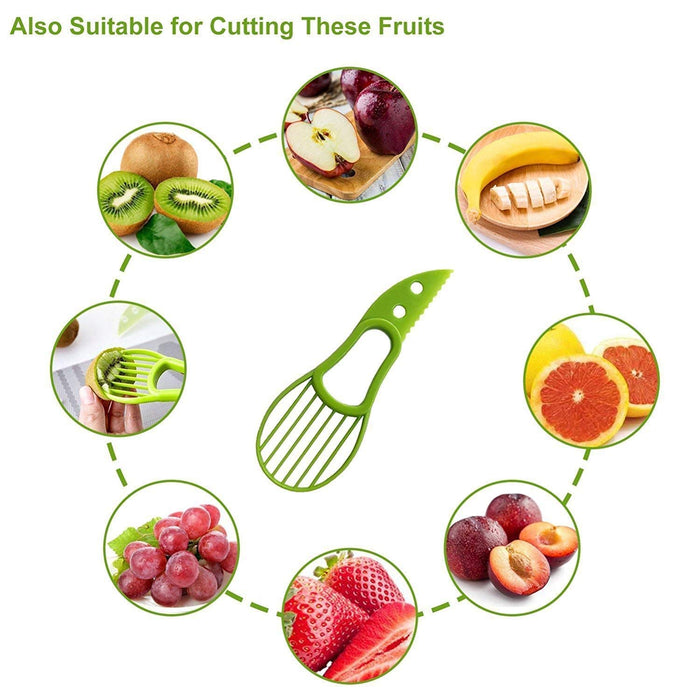 Avocado Slicer Peeler Splits Kitchen Utensil