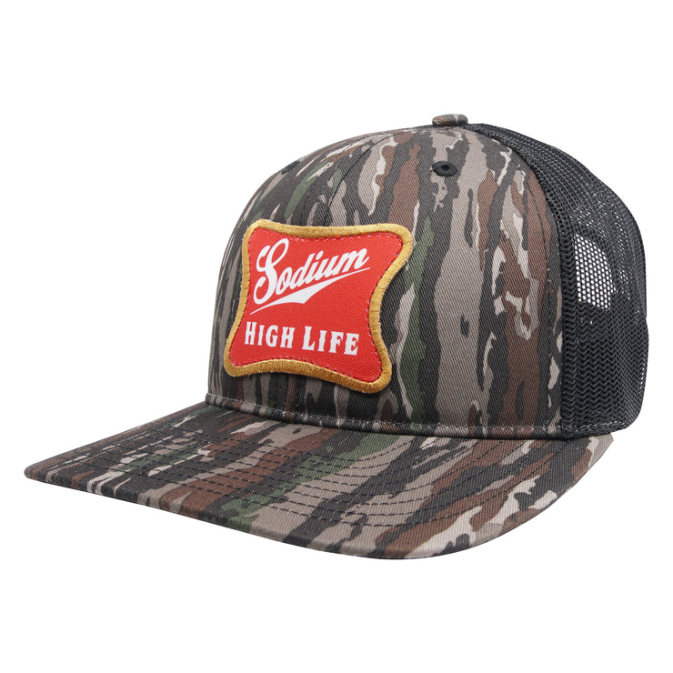 Woodland Camo Sodium High Life Patch Adj Hat