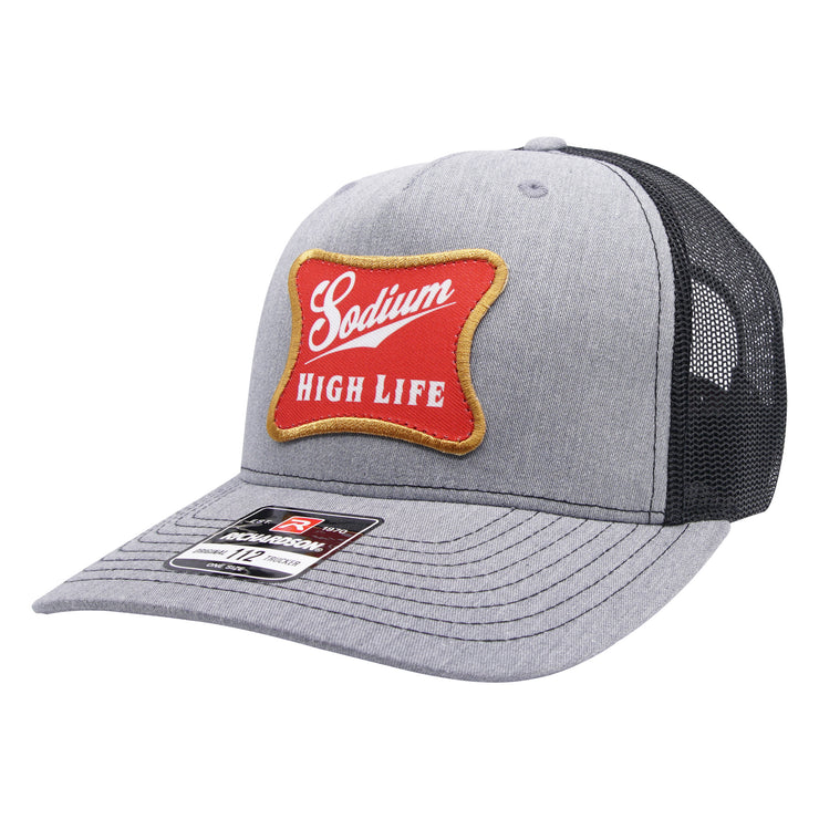 Heather Grey/Black Sodium High Life Patch Adj Hat