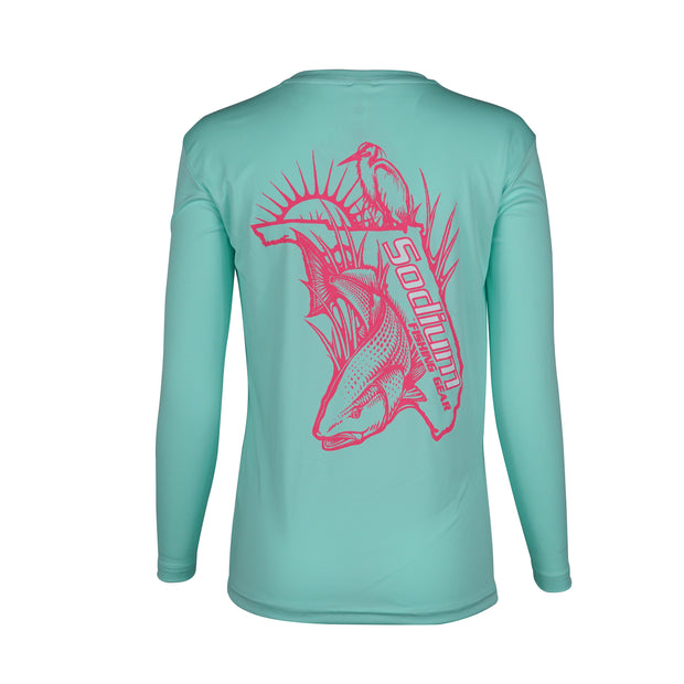 Seafoam/Pink Florida RedFish Long Sleeve