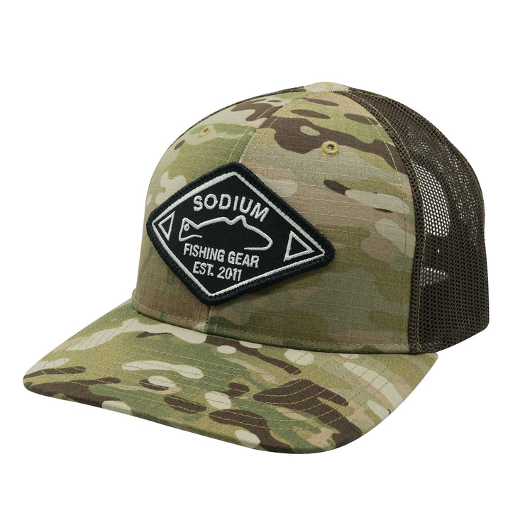Original Camo/Coyote Brown Redfish Diamond Est Patch Adj Hat