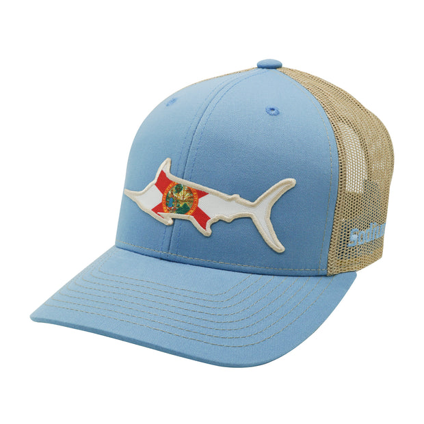 Columbia Blue/Khaki Florida Flag Marlin Adj Hat