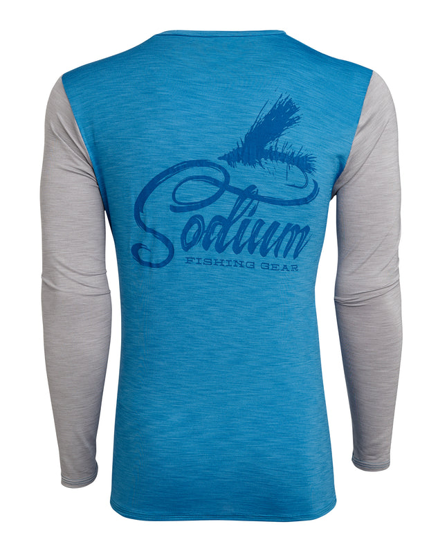 Grey/Blue Sodium Fly Long Sleeve