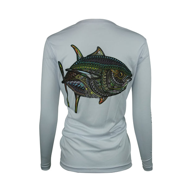 Women's Grey Larko Tuna Long Sleeve