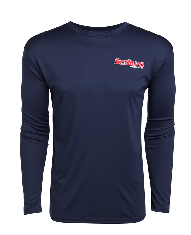 Navy Fly Flag Micro Long Sleeve