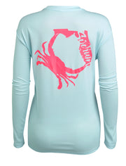 Sodium Ice Blue Florida Crab Long Sleeve