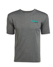 Heather Black Redfish Fly Logo Short Sleeve