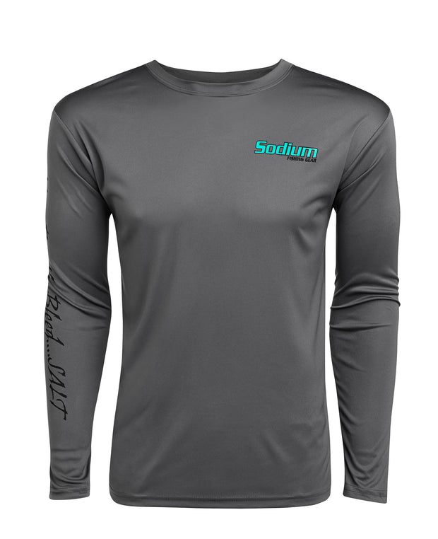 Redfish Fly Logo Charcoal Long Sleeve