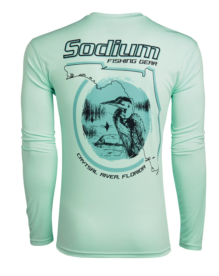 Seagrass Florida Egret Long Sleeve